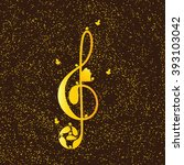 beautiful golden colored treble ... | Shutterstock . vector #393103042