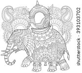 zentangle stylized cartoon... | Shutterstock .eps vector #393103702