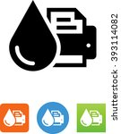 printer with ink drop icon | Shutterstock .eps vector #393114082