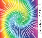 realistic spiral tie dye vector ... | Shutterstock .eps vector #393117742