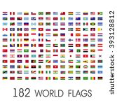 world flags vector graphics | Shutterstock .eps vector #393128812