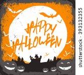 halloween illustration with... | Shutterstock . vector #393132355