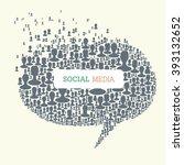 social media bubble speech... | Shutterstock . vector #393132652