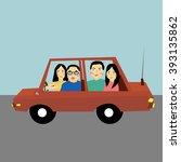 road trip | Shutterstock .eps vector #393135862