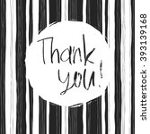 thank you card. abstract black... | Shutterstock . vector #393139168