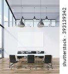 meeting room for six  blank... | Shutterstock . vector #393139342