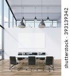 meeting room for six  blank... | Shutterstock . vector #393139342