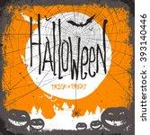 halloween vector illustration.... | Shutterstock . vector #393140446