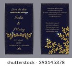 wedding invitation or banner... | Shutterstock .eps vector #393145378