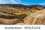 Erosional Landscape Of Hills...