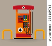 gas pump station | Shutterstock .eps vector #393169765