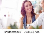 start up team of two young... | Shutterstock . vector #393186736