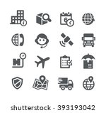 shipping and tracking icons   ... | Shutterstock .eps vector #393193042