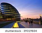 new london city hall at night...   Shutterstock . vector #39319834