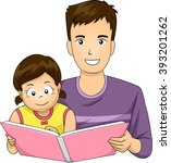 illustration of a father... | Shutterstock .eps vector #393201262
