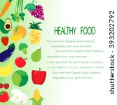 a template for a brochure on... | Shutterstock .eps vector #393202792