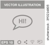 the hello vector  icon. | Shutterstock .eps vector #393216805