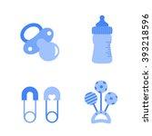 baby boy shower design icons ... | Shutterstock .eps vector #393218596