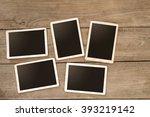 empty instant paper photo album ... | Shutterstock . vector #393219142