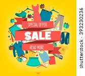 super sale clothing and... | Shutterstock .eps vector #393230236