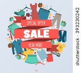 super sale clothing and... | Shutterstock .eps vector #393230242