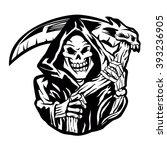 grim reaper sign | Shutterstock .eps vector #393236905