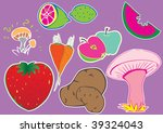 funny hand drawn objects | Shutterstock .eps vector #39324043