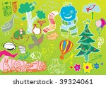 funny hand drawn objects | Shutterstock .eps vector #39324061
