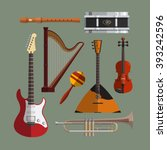musical instruments collection. ... | Shutterstock . vector #393242596