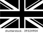 black   white union jack | Shutterstock .eps vector #39324904