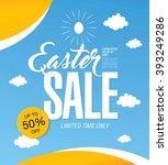 easter sale banner | Shutterstock .eps vector #393249286