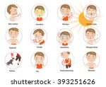 info graphics disease summer... | Shutterstock .eps vector #393251626