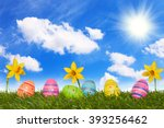 Six Coloured Easter Eggs On...