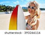 summer travel beach vacation.... | Shutterstock . vector #393266116
