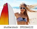 summer travel beach vacation.... | Shutterstock . vector #393266122