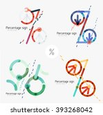 set of percentage signs  flat... | Shutterstock .eps vector #393268042