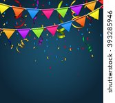 party background with flags... | Shutterstock .eps vector #393285946