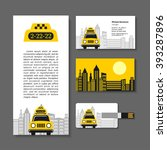 taxi. set of corporate identity ... | Shutterstock .eps vector #393287896