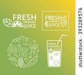 organic food logo vector logo... | Shutterstock .eps vector #393289576