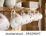 White Tea Cups Shabby Chic...