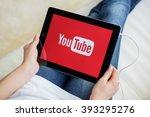 riga  latvia   february 17 ... | Shutterstock . vector #393295276