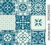 vector big set of tiles... | Shutterstock .eps vector #393296032