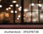 empty top of wooden table or... | Shutterstock . vector #393298738