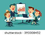 business people at meeting... | Shutterstock .eps vector #393308452