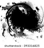 splat black. grunge vector... | Shutterstock .eps vector #393316825