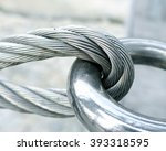 The Close View Of Wire Rope...