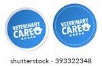 veterinary care stickers | Shutterstock .eps vector #393322348