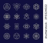 line geometric design symbols... | Shutterstock .eps vector #393324022
