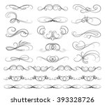 set of calligraphic lines | Shutterstock .eps vector #393328726