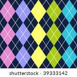 vector argyle pattern   Shutterstock .eps vector #39333142